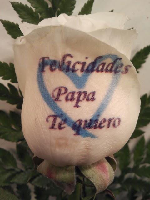 Rosa azul dia del padre