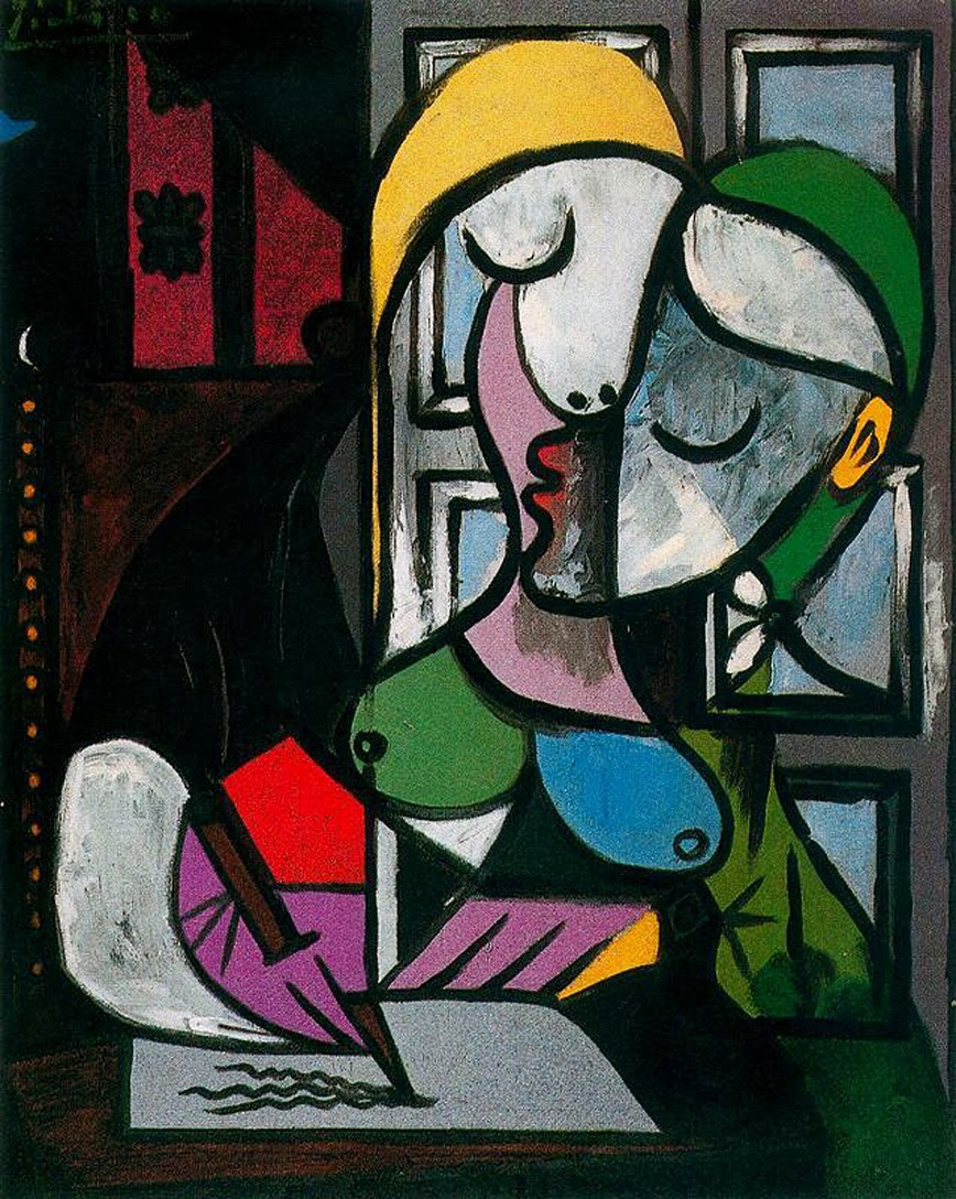 Pablo Picasso - Woman writing