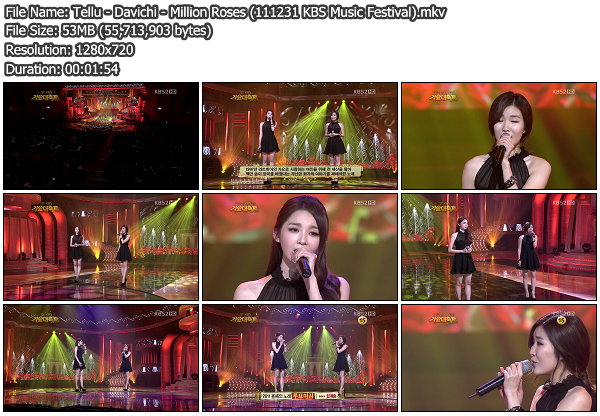 [Perf] Davichi   Million Roses @ KBS Music Festival 111230