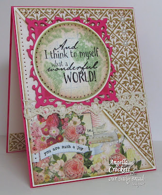 ODBD The Earth and Vintage Pattern Mini 1, Card Designer Angie Crockett