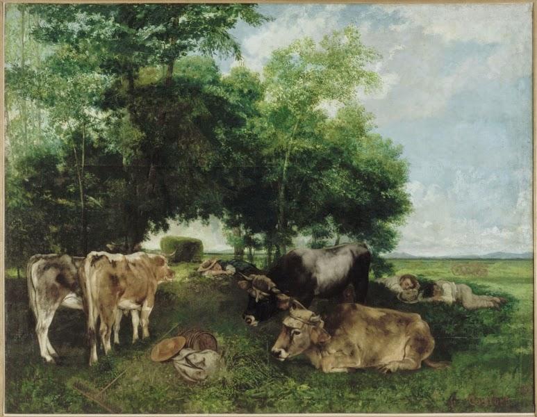 Gustave Courbet - La sieste pendant la saison des foins ,1868