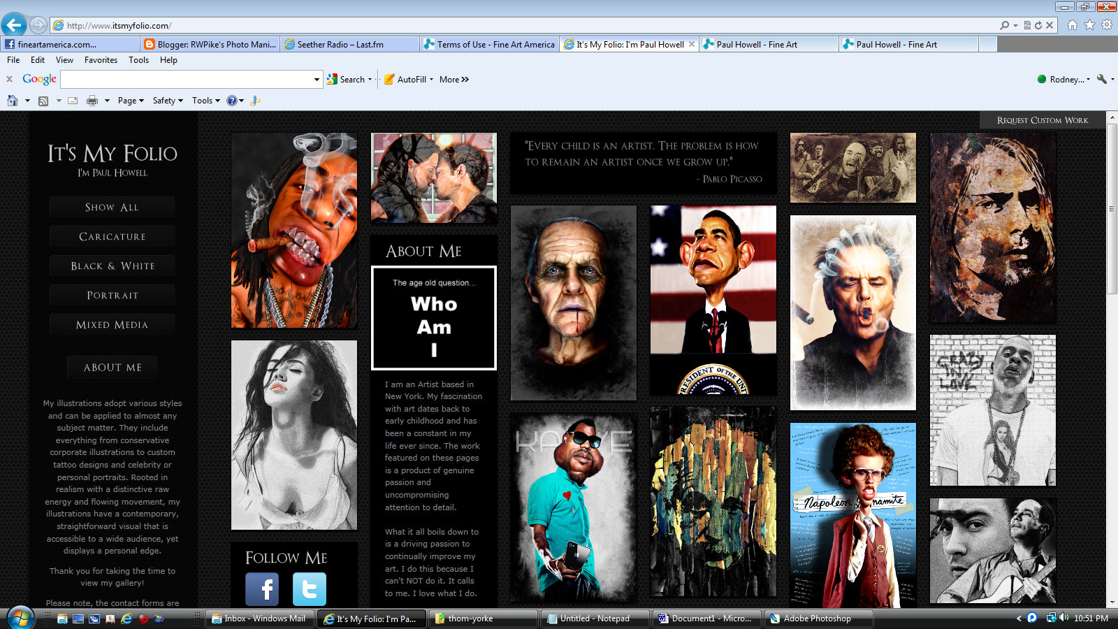 This is Paul Howell's personal web site