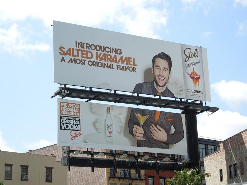 Stoli Salted Karamel billboard NYC