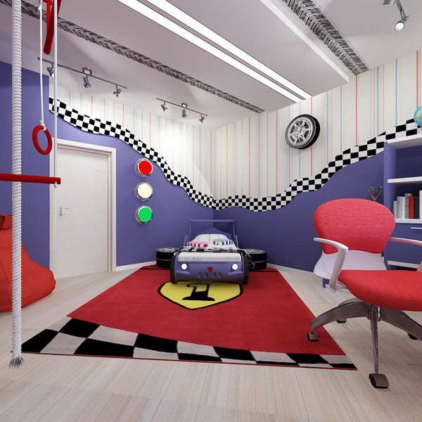 Bright interiors children\'s rooms and cool designs for boys, girls