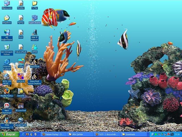 Aquareal 3d v4 deluxe screensaver for Protector de pantalla en movimiento
