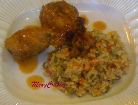 Couzina d 39 mery pilons de poulet brais s l orange - Pilon de poulet a la poele ...