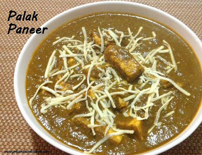 Palak Paneer spinach curry