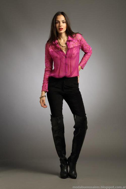 Camisas de mujer moda invierno 2013 Sathya.