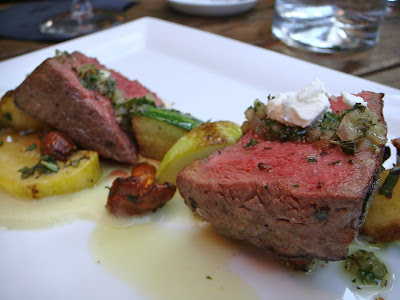 Star anise-rubbed beef sirloin at Cava, Portsmouth, NH