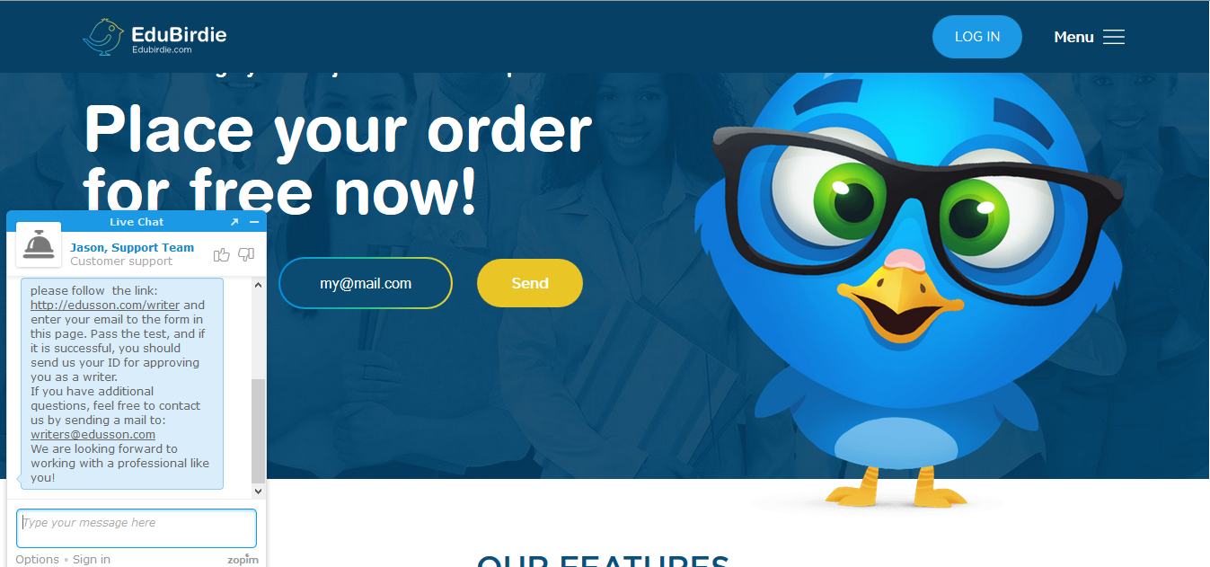 Edubirdie.com Customer Support Review