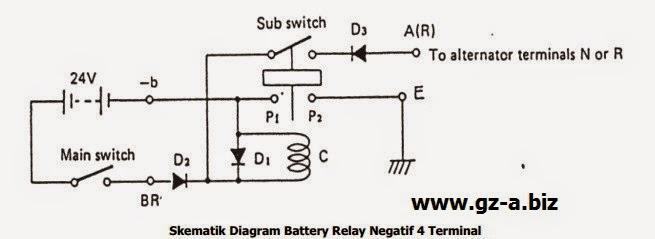 Skematik Battery Relay Negatif 4 Terminal