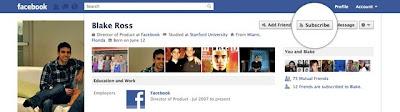 Suscribirse a un amigo en Facebook