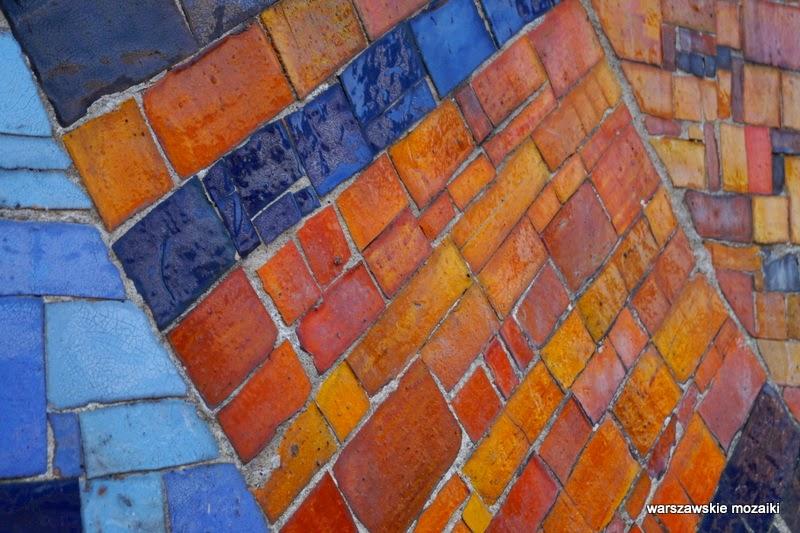 warszawskie mozaiki Warszawa Ochota ceramika