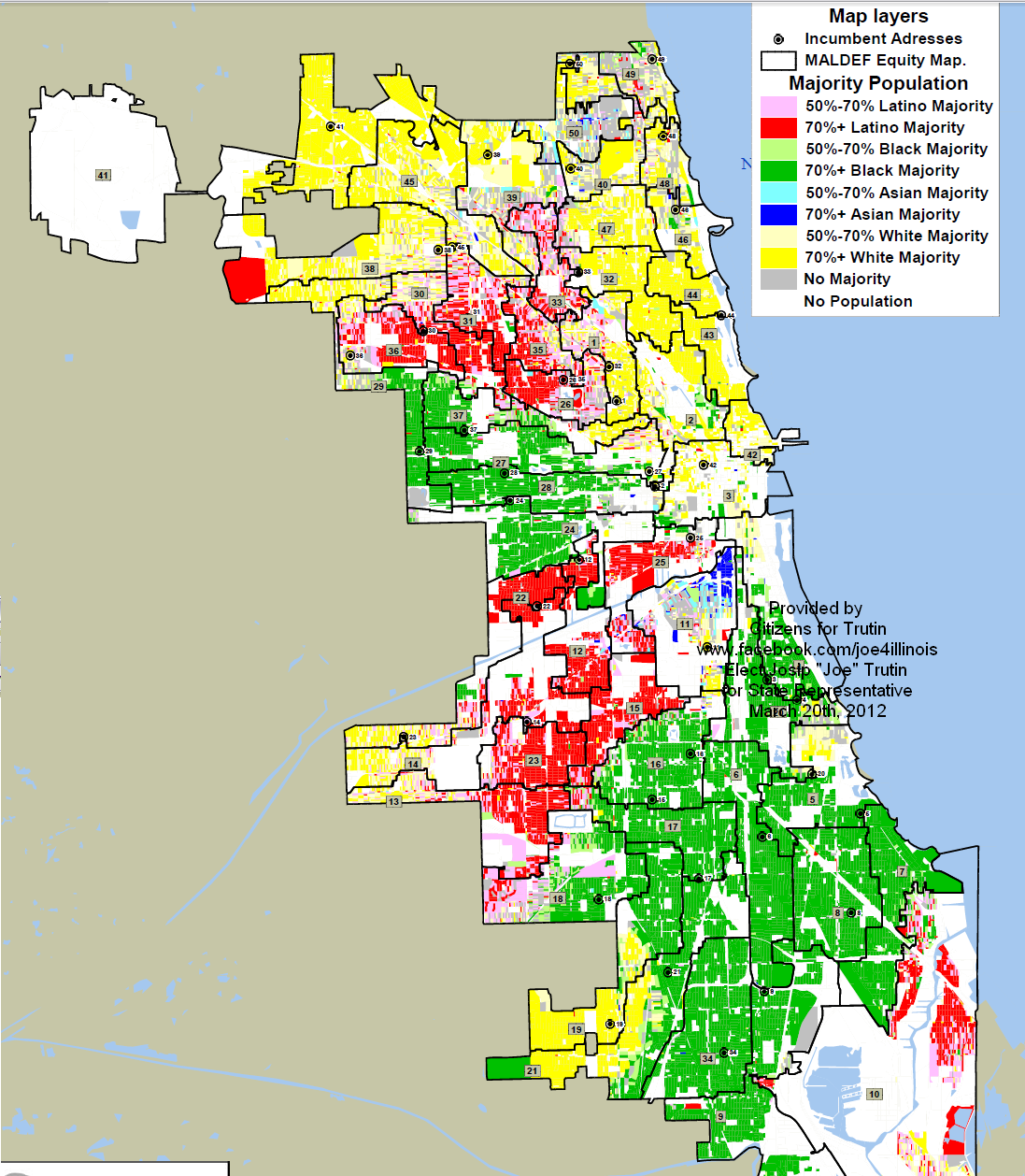 The Sixth Ward MALDEF Map Another Look - Chicago alderman map