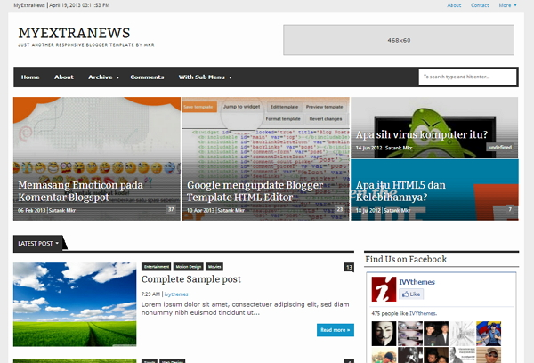 My extra news template di brili download