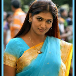 Bhuvaneswari in Blue Saree Cute Photos