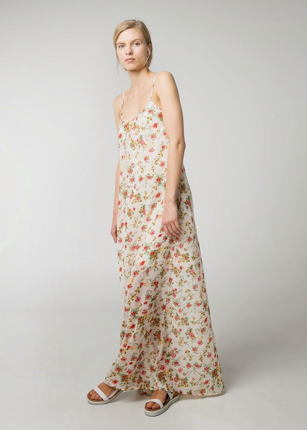 vestido largo mango