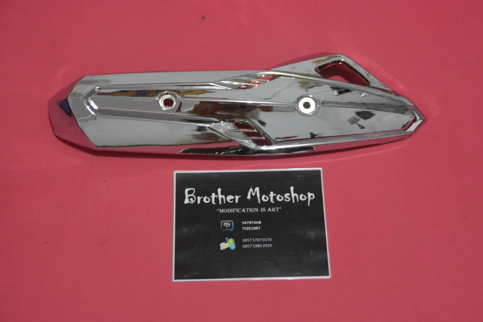 Brother Motoshop Cover Tutup Knalpot Honda Vario 125 Chrome Techno Led 150