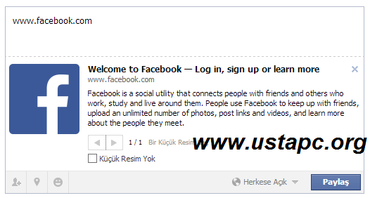 facebook-link-yönlendirme