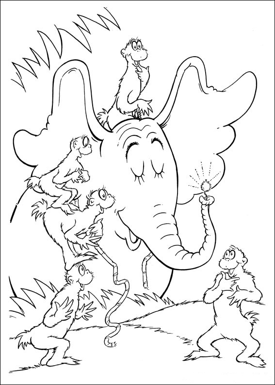 Fun Coloring Pages Horton Dr Seuss Coloring Pages Dr Seuss Printable Coloring Pages