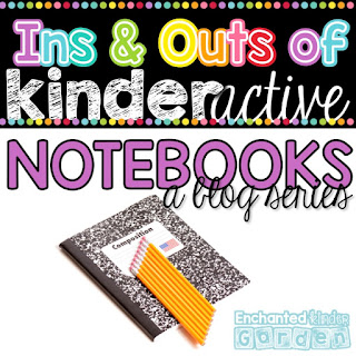 "This is a graphic that says, ""Ins and Outs of Kinderactive Notebooks: A Blog Series."""