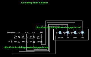free circuit diagrams 4u 12v battery level indicator 8 9