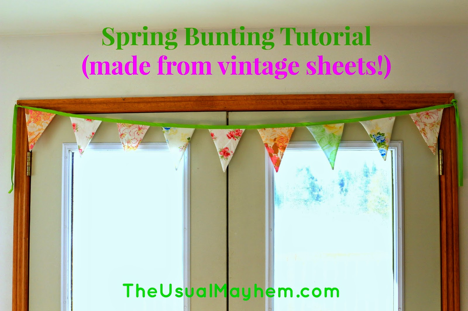 vintage sheet buunting tutorial