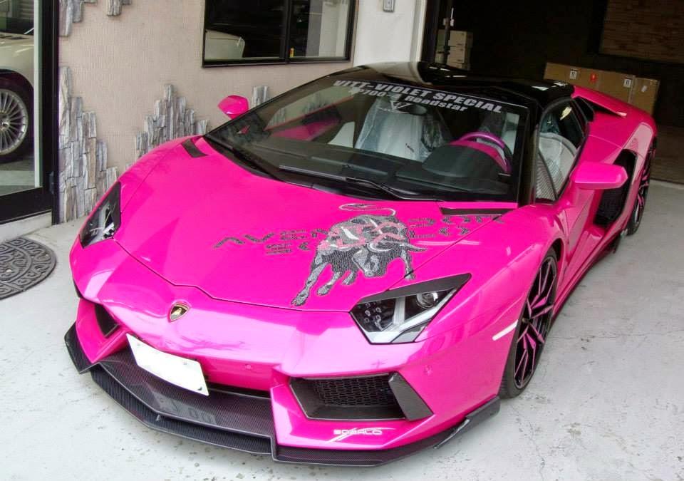 VITT Squalou0027s Pink U0026 Fabulous Lamborghini Aventador Roadster