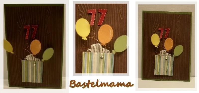Holzprägung, Luftballons mit Eulenstanze,