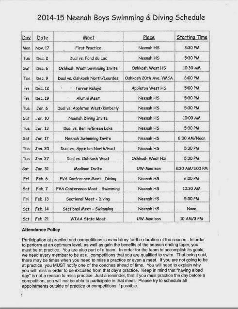Nhs swimming and diving 2014 2015 boys swimming diving Agincourt swimming pool schedule 2014