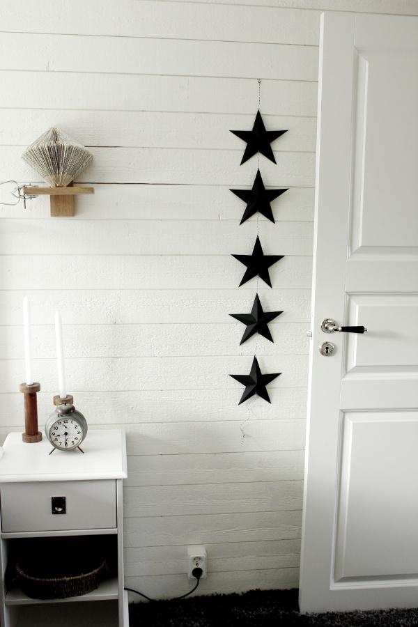 diy stjärna, svarta stjärnor, dekoration på väggen i sovrummet, dekoration, gör det själv, vika stjärnor, origami stjärnor, origami stjärna, vika stjärnor, stjärna,