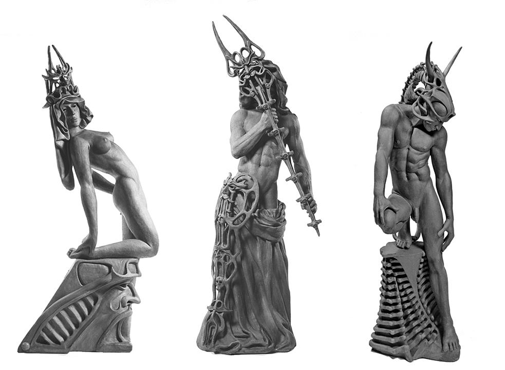 Robert John Guttke Sculpture: Lattice Duo
