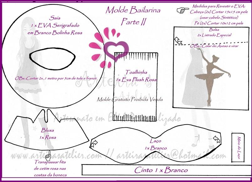 Moldes da bailarina - Imagui
