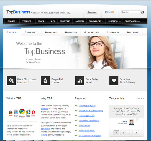 Template company profile collection of free web templates 4u download pronofoot35fo Images