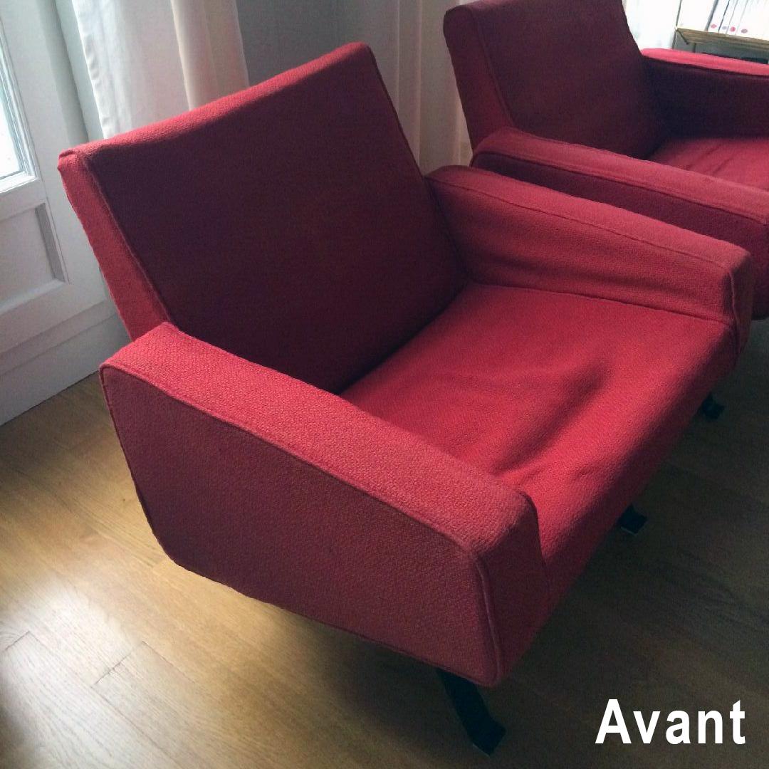 avant apr s fauteuils joseph andr motte atelier velvet artisan tapissier paris 10e. Black Bedroom Furniture Sets. Home Design Ideas