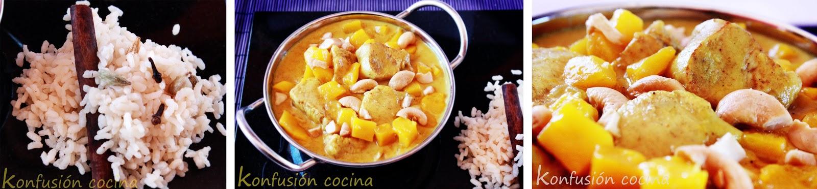 MANGO CHICKEN CURRY HINDU COCONUT CREAM BROWN SUGAR LIMA DELICIOUS CREAMY SPICY ACID SWEET ORIENTAL SPICY FOOD EASY