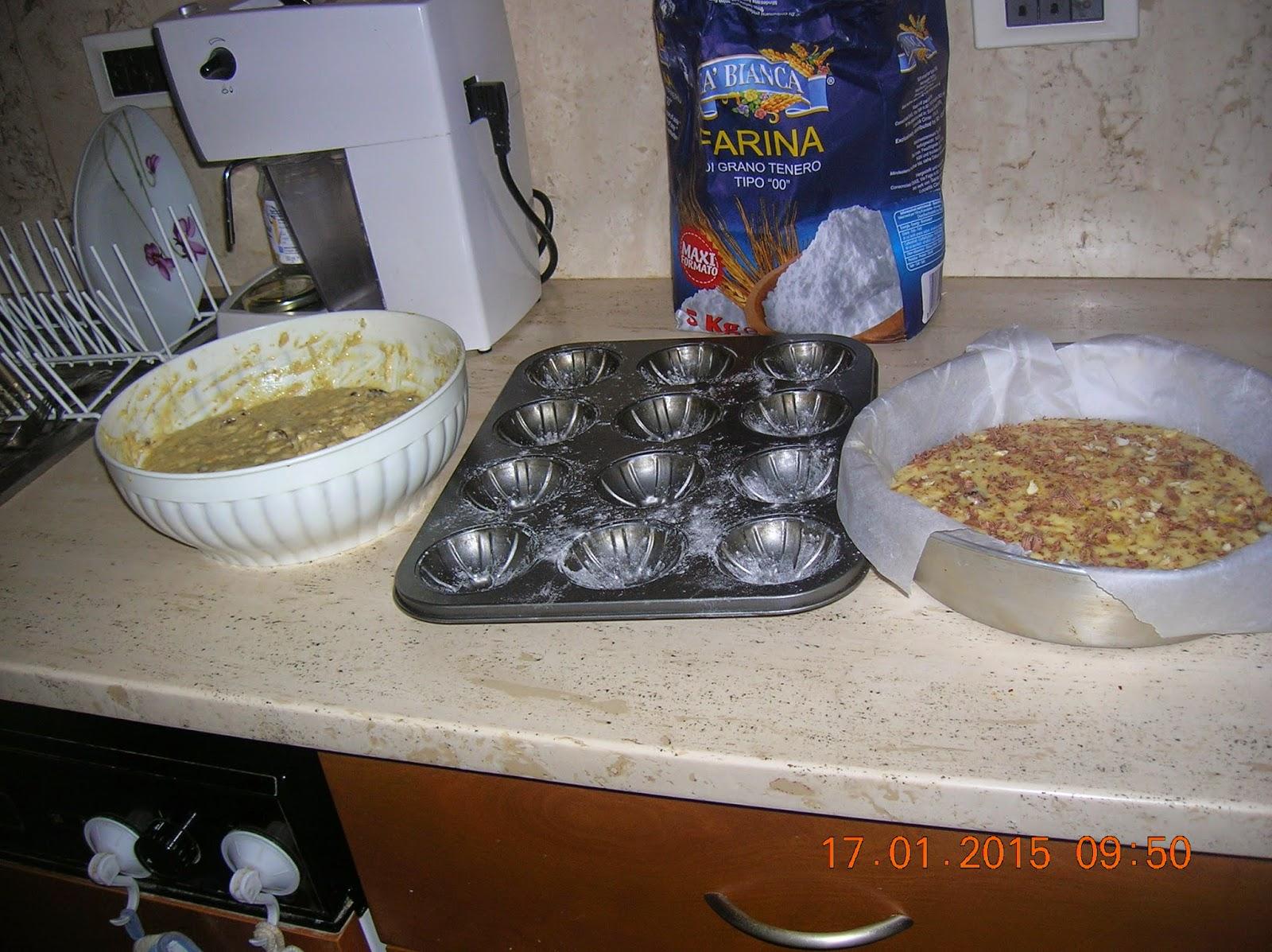 la mia torta di ricotta  e muffin  di panettone... trecce  di farina di mais