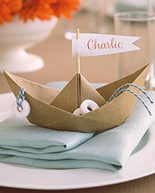 Sail Boat Place Cards