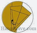 Bước 15: Gấp lớp giấy vào trong giữa hai lớp giấy.