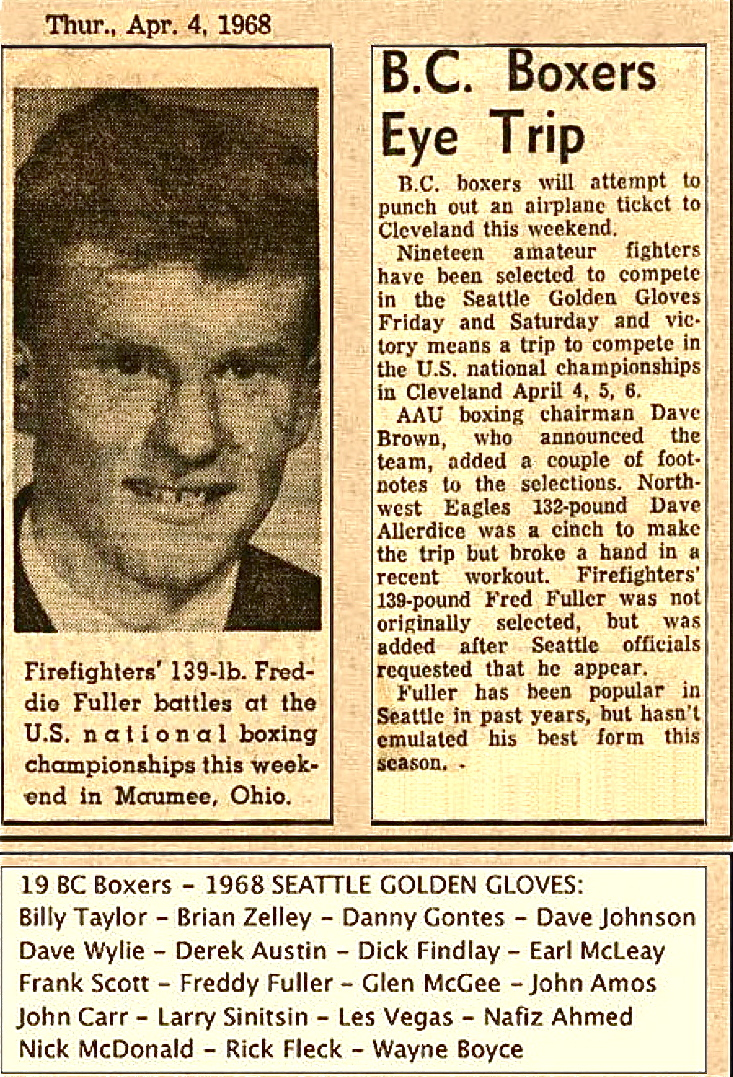 Golden gloves in amateur boxing 1963