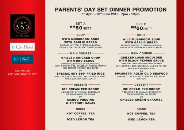 Parents' Day Set Dinner Promotion