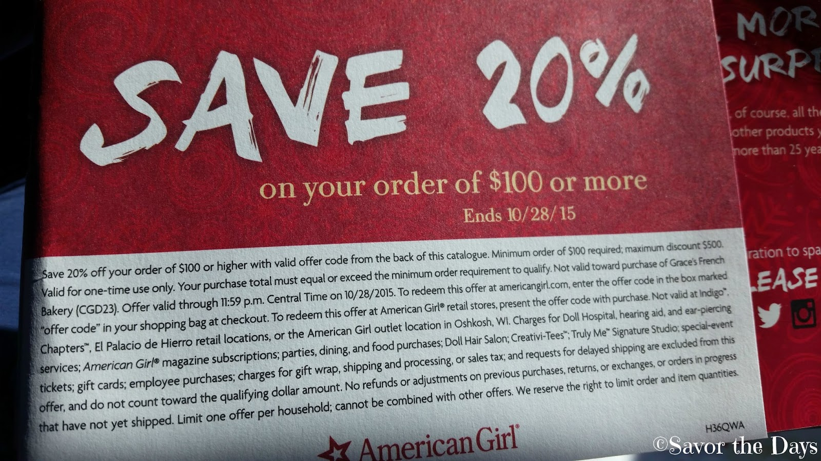 American girl coupons discounts