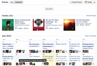 Facebook rediseña el sistema de eventos