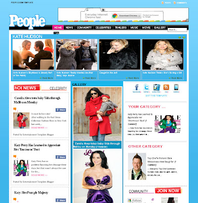 People Celebrity Blogger Theme