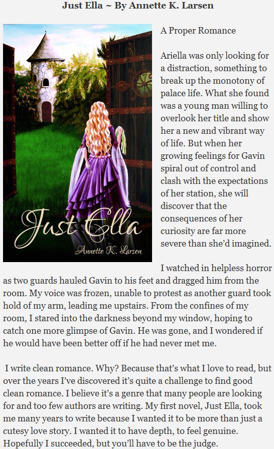 Just Ella ~ By Annette K. Larsen