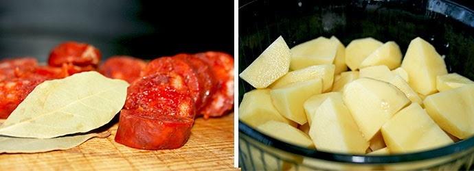 Patatas con chorizo de León