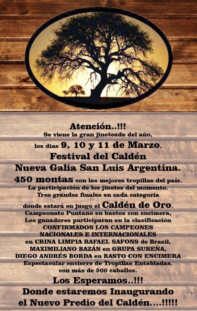 Festival del Calden - San Luis - 9-10-11-Marzo