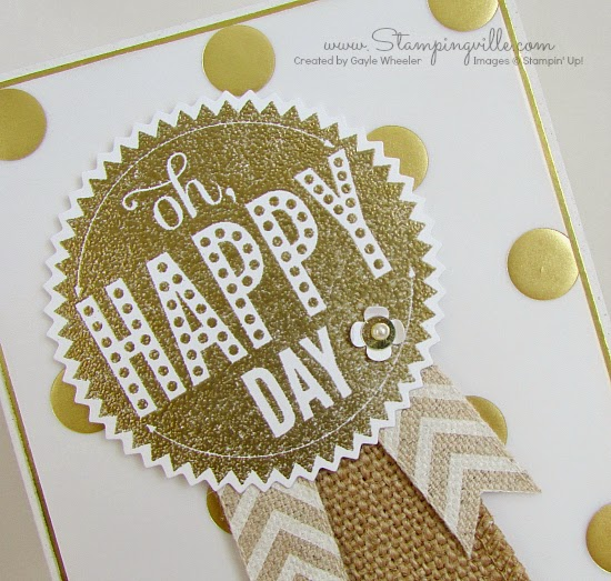 Embossed starburst die-cut greeting | Stampingville #papercrafts #cardmaking #StampinUp
