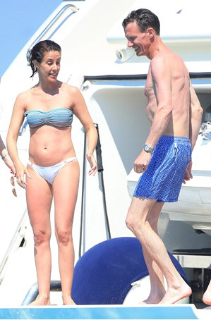Princess Marie of Denmark and Prince Joachim of Denmark are seen on June 8, 2015 in Ibiza, Spain.