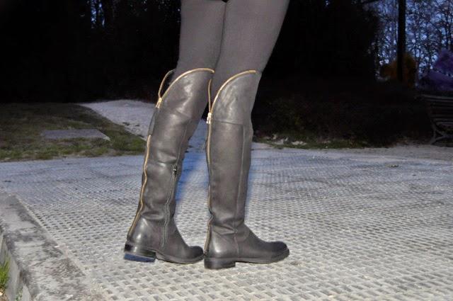 como combinar botas mosqueteras How to combine over-the-knee boots